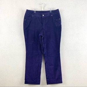 Lane Bryant Corduroy Pants Violet 20 Plus size